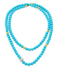 Gurhan | Blue Amulet Hue Diamond, Turquoise & 22-24k Yellow Gold Strand Necklace/50 | Lyst