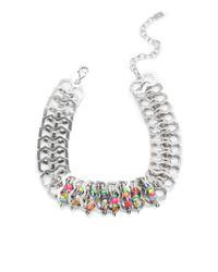 DANNIJO | Metallic Kamali Beaded Safety Pin Necklace | Lyst