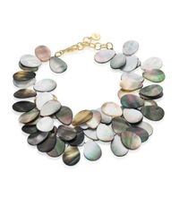 Nest | Gray Grey Mother-of-pearl Statement Necklace | Lyst