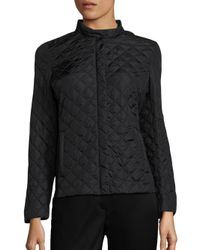 Weekend by Maxmara - Black Plinio Diamond-quilted Jacket - Lyst
