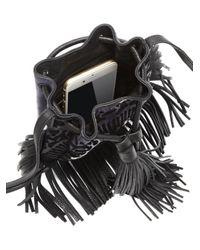 Rebecca Minkoff - Black Revel Phone Leather & Canvas Crossbody Bag - Lyst