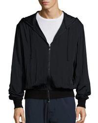 VINCE   Black Regular-fit Merino Wool-blend Zip-front Hoodie for Men   Lyst