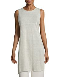 Eileen Fisher | Multicolor Linen Crepe Sleeveless Tunic | Lyst