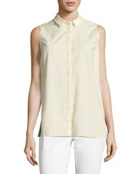 Lafayette 148 New York | Multicolor Justin Gingham Blouse | Lyst
