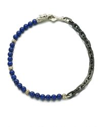 John Hardy | Blue Naga Silver Bracelet for Men | Lyst