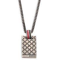Gucci | Metallic Dtissima Silver Pendant Necklace for Men | Lyst