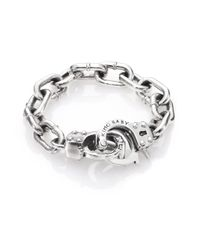 King Baby Studio - Metallic Handcuff Clasp Bracelet for Men - Lyst
