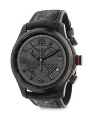 Gucci | Black G-timeless Stainless Steel Chronograph Watch | Lyst