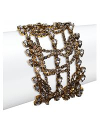 Erickson Beamon | Metallic Bette Crystal Layered Multi-row Bracelet | Lyst