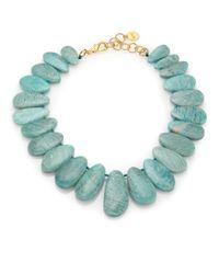 Nest | Green Amazonite Bib Statement Necklace | Lyst
