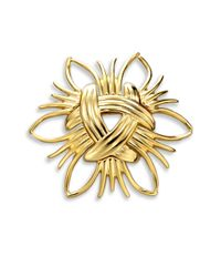 Kenneth Jay Lane | Metallic Abstract Sunburst Pin | Lyst