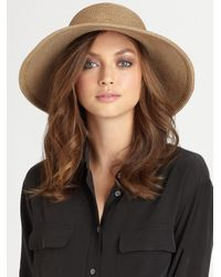 Eric Javits | Natural Straw Floppy Hat | Lyst