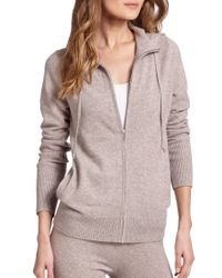 Saks Fifth Avenue - Brown Cashmere Hoodie - Lyst