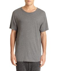 T By Alexander Wang | Gray Classic Crewneck Tee for Men | Lyst