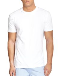Saks Fifth Avenue   White Crewneck Tee, 3-pack for Men   Lyst