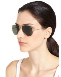 Ray-Ban - Brown Original Aviator Sunglasses - Lyst