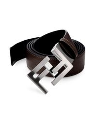 Fendi | Brown Reversible Skinny Belt | Lyst