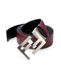 Fendi - Red Reversible Skinny Belt - Lyst