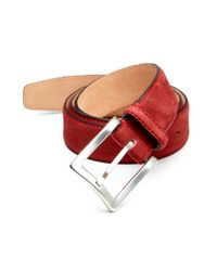 Hickey Freeman | Red Grain Nubuck Belt for Men | Lyst