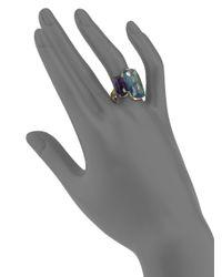 Marco Bicego - Murano London Blue Topaz, Amethyst & 18k Yellow Gold Ring - Lyst