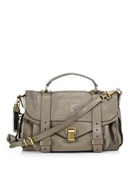 Proenza Schouler | Gray Ps1 Medium Satchel | Lyst