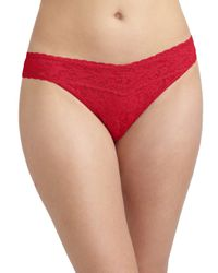 Hanky Panky | Natural Plus Size Signature Lace Thong | Lyst