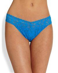 Hanky Panky | Blue Original Rise Lace Thong | Lyst