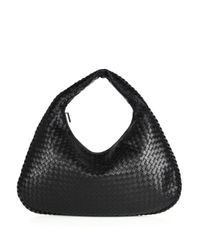 Bottega Veneta | Black Veneta Large Hobo Bag | Lyst
