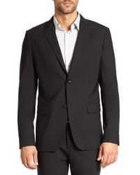 Theory - Black Wellar Stretch Wool Blazer for Men - Lyst