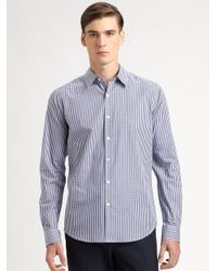 Theory | Blue Sylvain Amicable Sportshirt for Men | Lyst