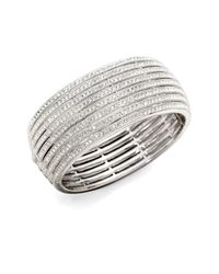 Adriana Orsini | Metallic Eight-row Crystal Encrusted Bangle Bracelet | Lyst
