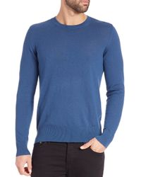 Burberry - Blue Jarvis Crewneck Sweater for Men - Lyst