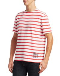 Alexander Wang | Red Striped Cotton Tee for Men | Lyst