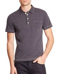 Billy Reid | Blue Pensacola Cotton Polo for Men | Lyst