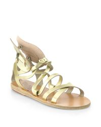 Ancient Greek Sandals | Nephele Angel Metallic Leather Wing Gladiator Sandals | Lyst