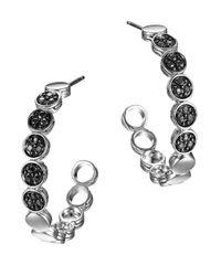 John Hardy | Dot Black Sapphire & Sterling Silver Hoop Earrings/1.05 | Lyst