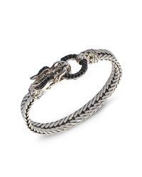 John Hardy   Metallic Naga Black Sapphire & Sterling Silver Dragon Head Bracelet   Lyst