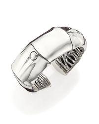 John Hardy | Metallic Bamboo Sterling Silver Wide Kick Cuff Bracelet | Lyst