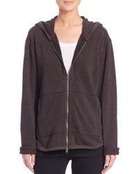 ATM | Gray French Terry Zip Hoodie | Lyst