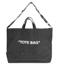 Off-White C O Virgil Abloh Quote Tote Bag in Black for Men - Lyst c6284a7ae670b