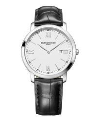 Baume & Mercier - Metallic Classima 10097 Stainless Steel & Alligator Strap Watch for Men - Lyst