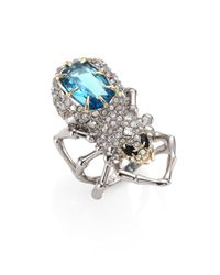 Alexis Bittar | Metallic Elements Crystal-encrusted Spider Cocktail Ring | Lyst