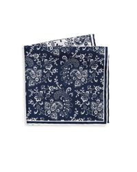 Saks Fifth Avenue - Blue Collection Two Tone Paisley Pocket Square for Men - Lyst