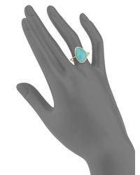 Meira T - Multicolor Diamond, Turquoise & 14k Yellow Gold Ring - Lyst