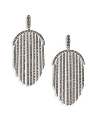 Adriana Orsini | Metallic Pave Fringe Drop Earrings | Lyst