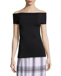 Helmut Lang - Black Off-the-shoulder Top - Lyst