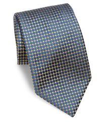 Charvet - Blue Dotted Silk Tie for Men - Lyst