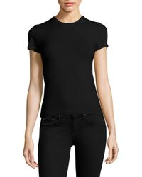 ATM - Black Stretch Cotton Tee - Lyst