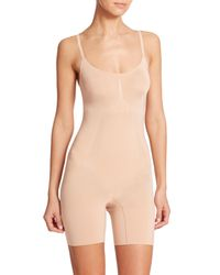 Spanx Natural Oncore Mid-thigh Bodysuit