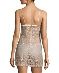 La Perla - Natural Autografo Embroidered Tulle Babydoll - Lyst